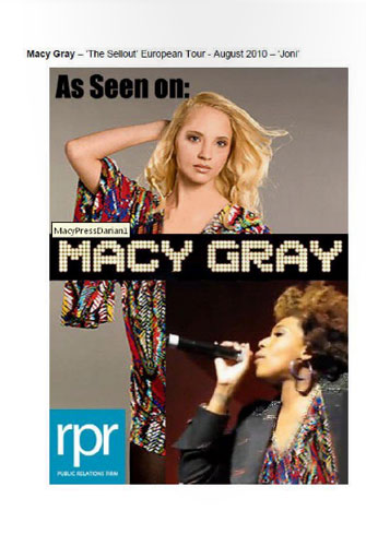 "Macy Gray-""The Sell Out"" European Tour-""Joni"" August 2010"
